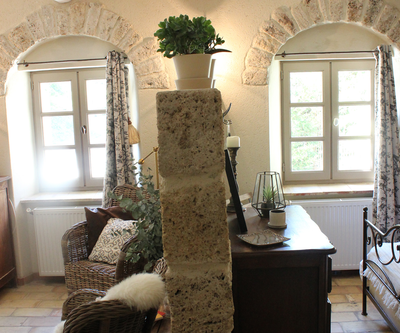 Chambre Provencale Idee Deco gîte mistral - ferme fortia - location de gîtes et chambres